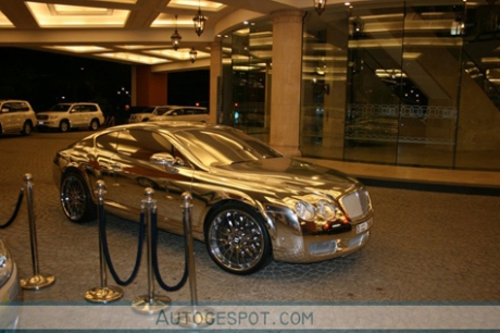 gold plated bentley